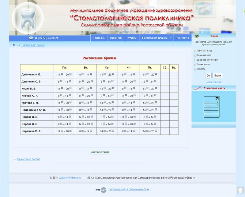 МБУЗ «Стоматологическая поликлиника» Семикаракорского района Ростовской области